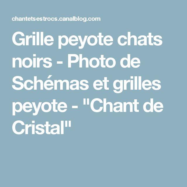 """Grille peyote chats noirs - Photo de Schémas et grilles peyote - """"Chant de Cristal"""""""