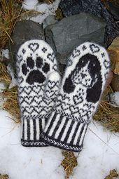 Dog mittens knitting pattern - $6