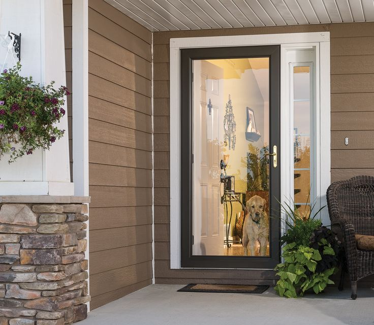 Full View Storm Doors Feature A Full Glass Design That
