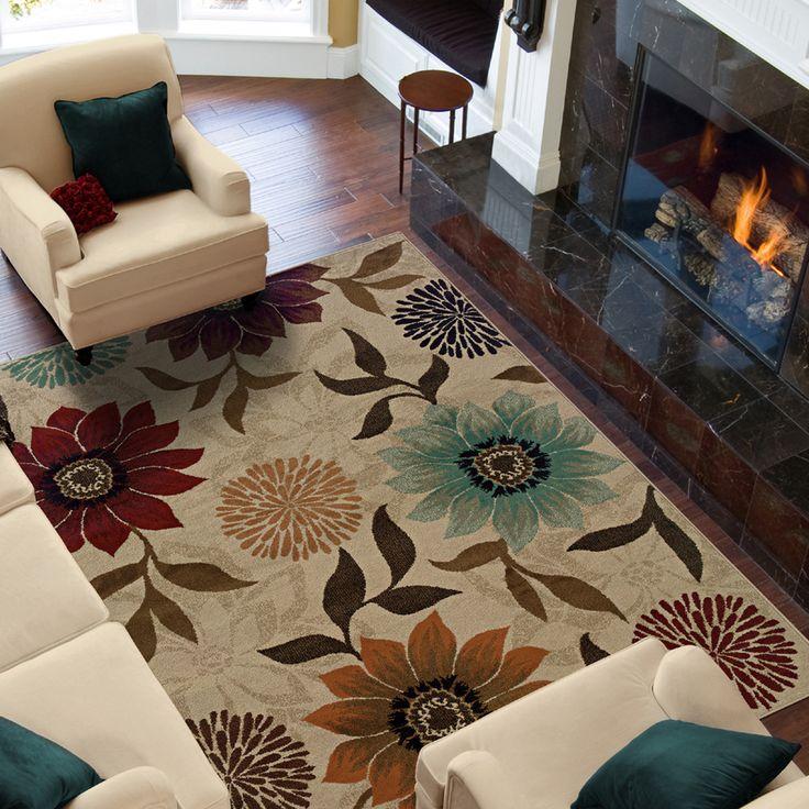 pier 1 living room rugs%0A Shop Oriental Weavers of America Cumberland Beige Rectangular Indoor Woven  Nature Area Rug  Common    x Actual
