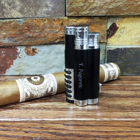 Butane Cigar Lighter Personalized - Groomsmen gift - Golf gift - Gifts for Men