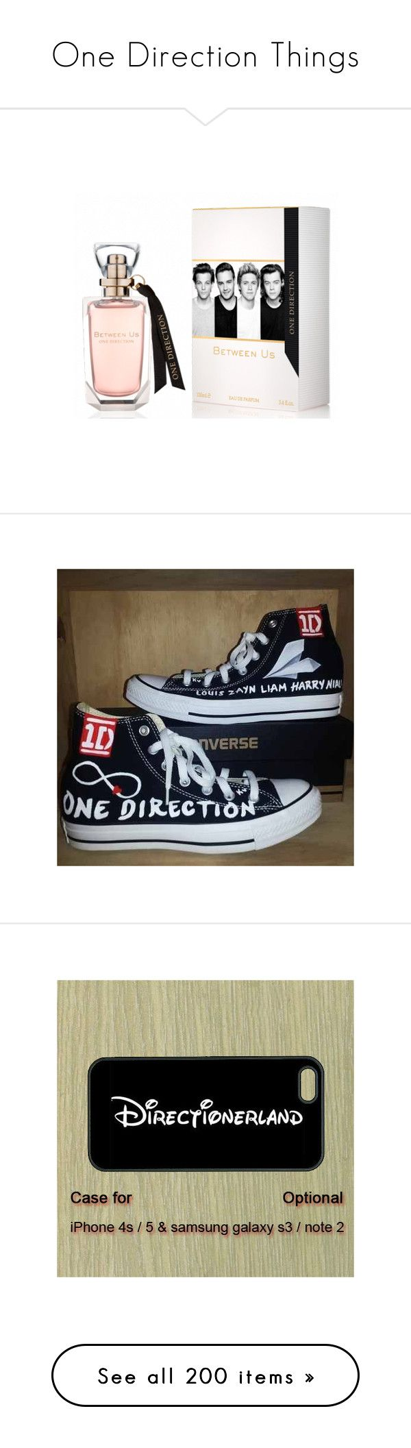 """One Direction Things"" by julili-99 ❤ liked on Polyvore featuring perfume, one direction, filler, shoes, converse, 1d, all star, accessories, tech accessories and phone cases"