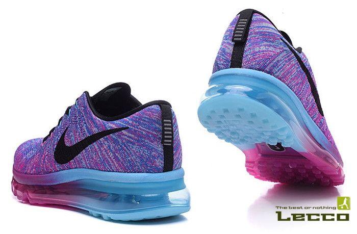 Обувь Женские кроссовки Nike Air Max 2014 Flyknit Fucsia/Blue