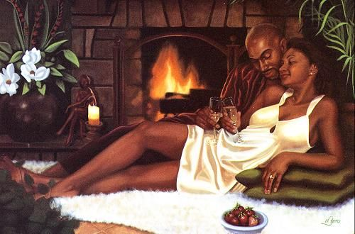 African American Romantic Art | black art romantic prints romantic black art