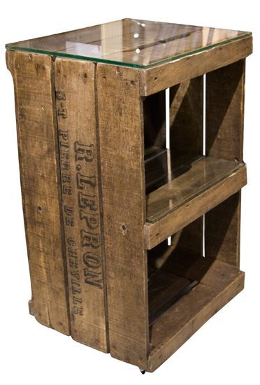 543 best images about wood pallet crafts on pinterest for Wooden crate bedside table