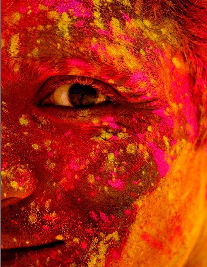 Holi Festival of Colours, India - the Festival of Colours signifies the start of spring and the triumph of good over evil