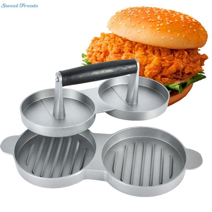 Cute Sweettreat Aluminum Burger Press Hamburger Maker Non Stick Cakes Patty Mold for BBQ Grill Accessories DIY