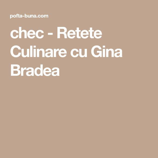 chec - Retete Culinare cu Gina Bradea