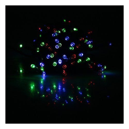 [Clearance] RGB Mixed Color (Red, Green, Blue) 17M 55ft 100 LED Solar Powered String Lights Garden Christmas Wedding Light Indoor and Outdoor Use by DBPOWER. $20.99. Great for Christmas, party or other celebration occasions. No wiring needed, powered by solar energy. Panel must be in dark/dim environment for the lights to come on (simply cover the solar panel to turn on light in brighter environment after power is charged). Waterproof, suitable for indoor and o...