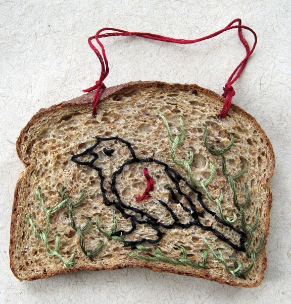 Stuff You Cant Have: embroidered bread Catherine McEver Who hasn't wished for embroidered bread?