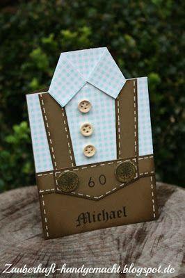 Zauberhaft Handgemacht, Lederhosenkarte, Einladung, 60, Geburtstag, Karte,  Bayerisch