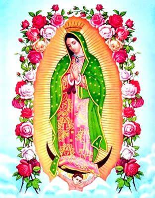 chasque aquí para más grande pintura Nuestra Señora de Guadalupe, Virgen de Guadalupe, Maria Virgen madre de gracia, madre de dios.