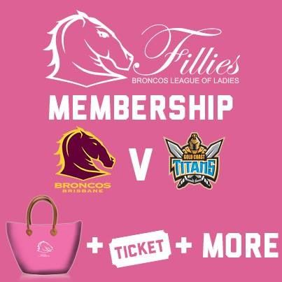 Good idea by the Brisbane Broncos for their Fillies/Womens membership pack