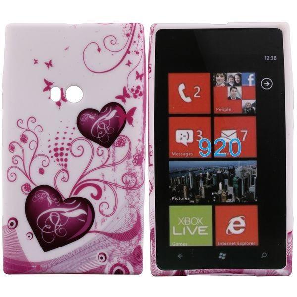 Symphony (Kaksi Violettia Sydäntä) Nokia Lumia 920 Silikonisuojus