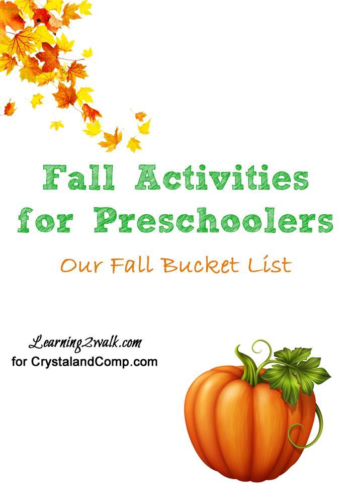 11 Fall Activities for Preschoolers- Bucket List