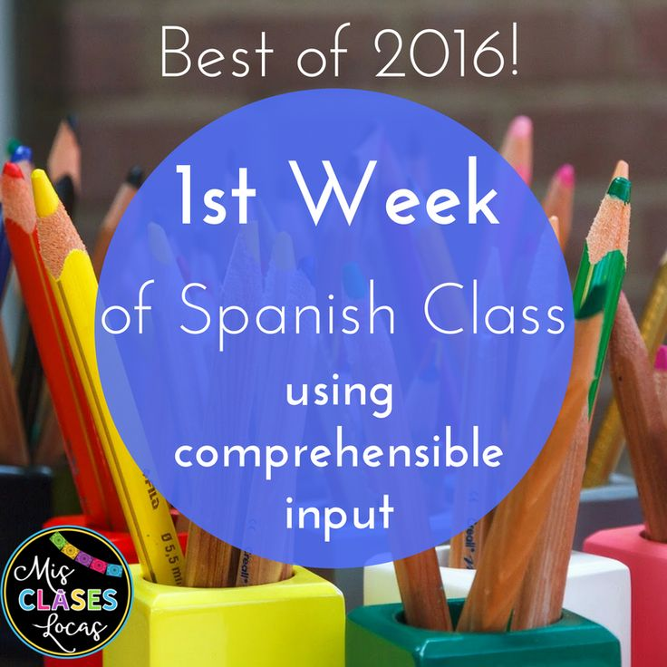 1st Week of Spanish Class using comprehensible input