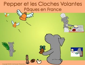 """Joyeuses Pques from France!  In Easter in France or Pepper and the Flying Bells""""…"""