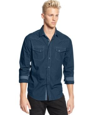 American Rag Men's Mini Houndstooth Shirt, Only at Macy's -