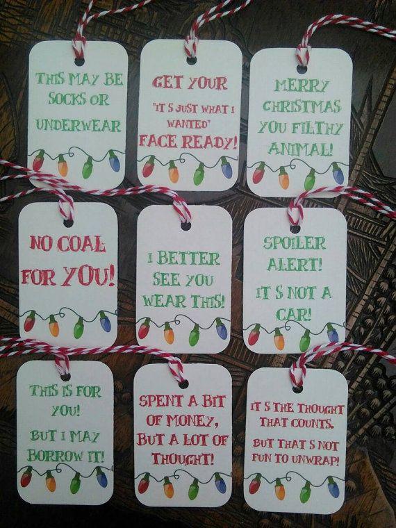 Funny Christmas Gift Part - 20: Merry Christmas You Filthy Animal, Funny Christmas Gift Tags, Rude Christmas  Gift Tags, Filthy Animal Gift Tags.