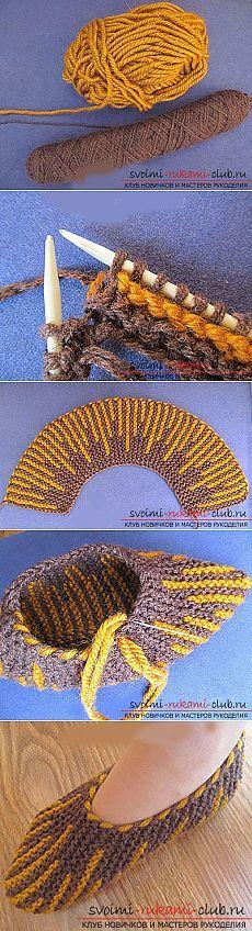 Вяжем спицами тапочки-следки для начинающих по пошаговой инструкции с фото и схемами бесплатно