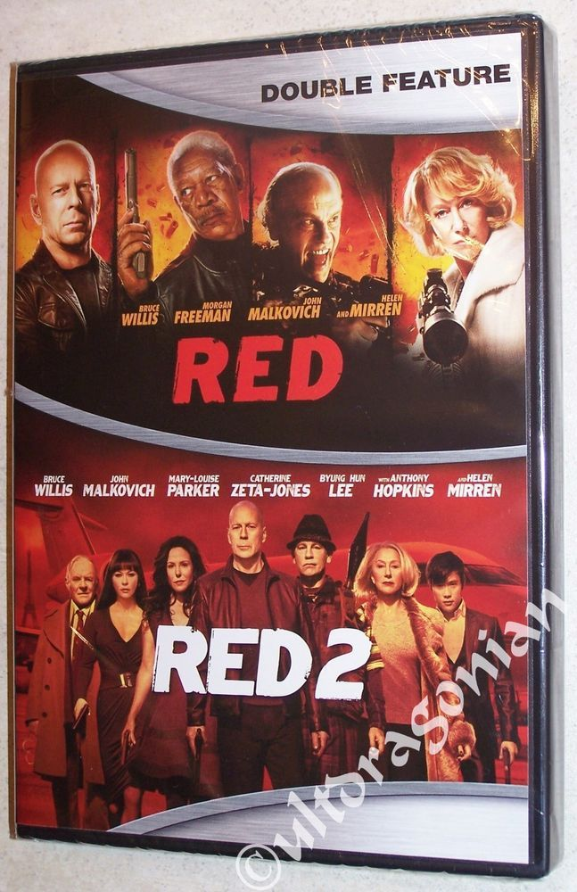 RED 1 & 2 - DVD Bruce Willis Morgan Freeman John Malkovich 2-Movie BRAND NEW
