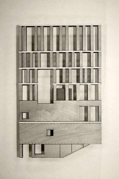 Rafael Moneo / facade model.