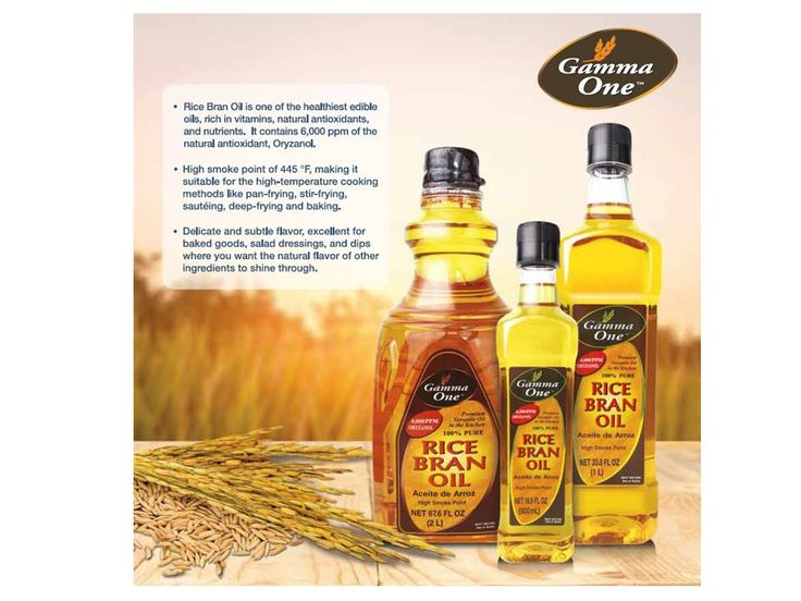 Gamma One Rice Bran Oil with 6,000 ppm of natural antioxidant, Oryzanol