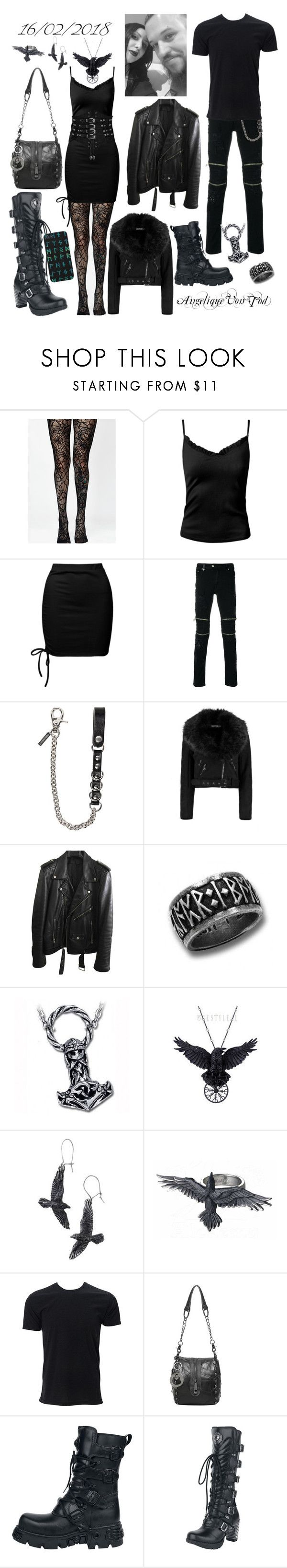 """Viking Metal"" by angelique-von-tod ❤ liked on Polyvore featuring Killstar, Sans Souci, Just Cavalli, Dsquared2, Boohoo, BLK DNM, Rune NYC and Simplex Apparel"