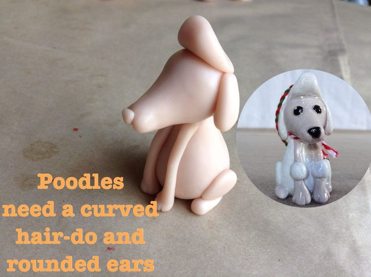 Lengthen the nose on the Mini Pup Base One to make a Poodle. Poodles get a flamboyant quiff of a hair-do.  http://jebarsby.weebly.com/blog/re-fur-pups