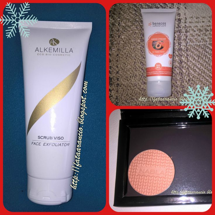 "Auto-regali Natale 2016 Alkemilla-Scrub viso; Benecos-Crema mani Albicocca e Fiori di Sambuco; Nabla-blush ""Hey Honey!"" #alkemilla #benecos #nabla #regalidinatale #christmasgifts #whatigotforchristmas"