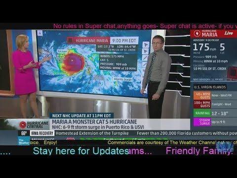 live: hurricane maria tracker 145mph CAT 4-Warning!/hurricane jose track...