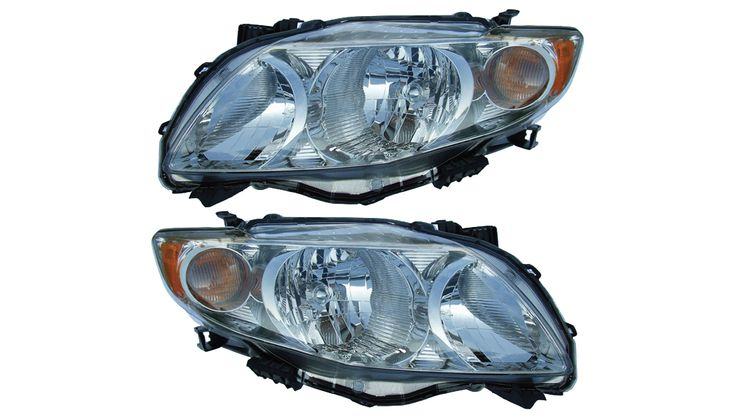 2009-2010 Toyota Corolla Chrome Headlights Set: THIS IS A BRAND NEW PAIR (DRIVER & PASSENGER SIDE)  CHROME… #CarHeadlights #AutoHeadlights
