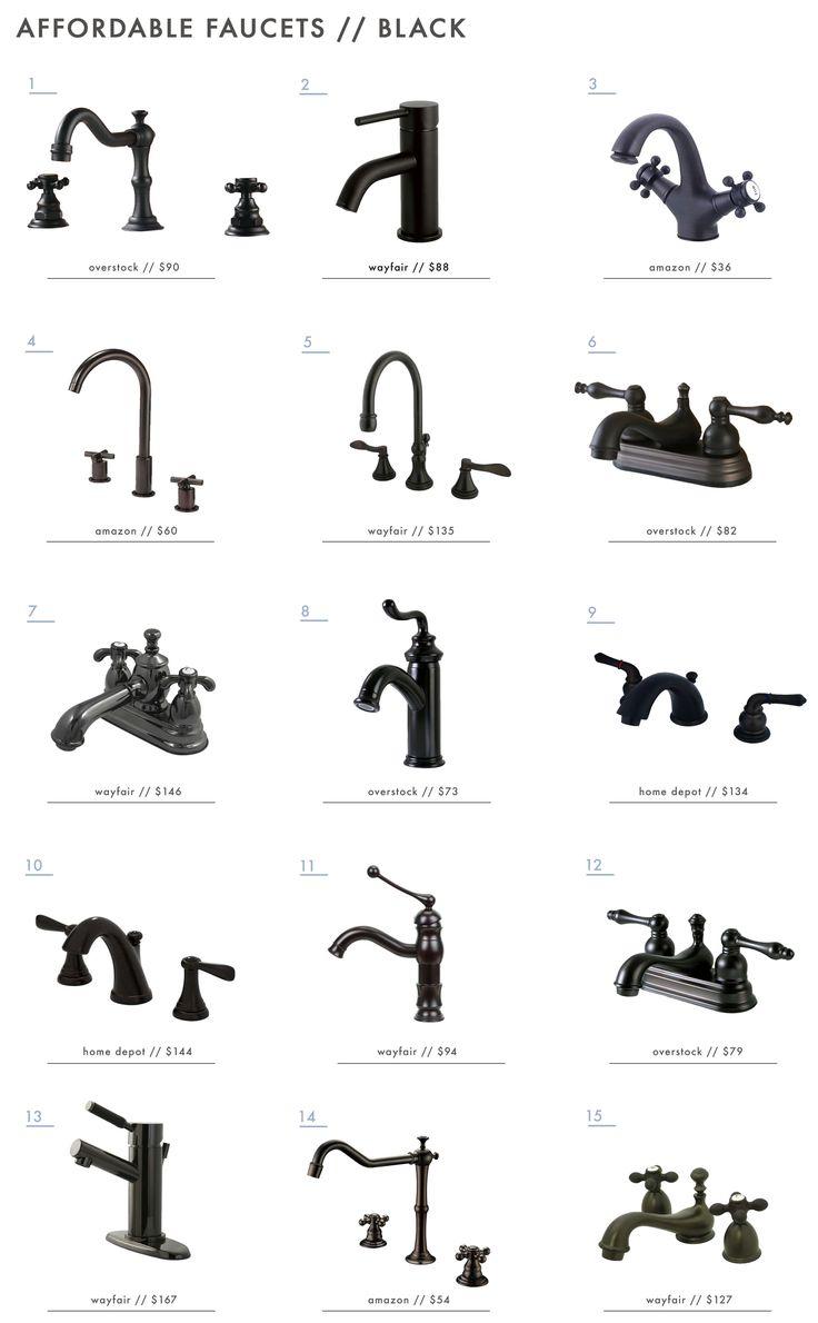 15 Affordable Black Bathroom Faucets