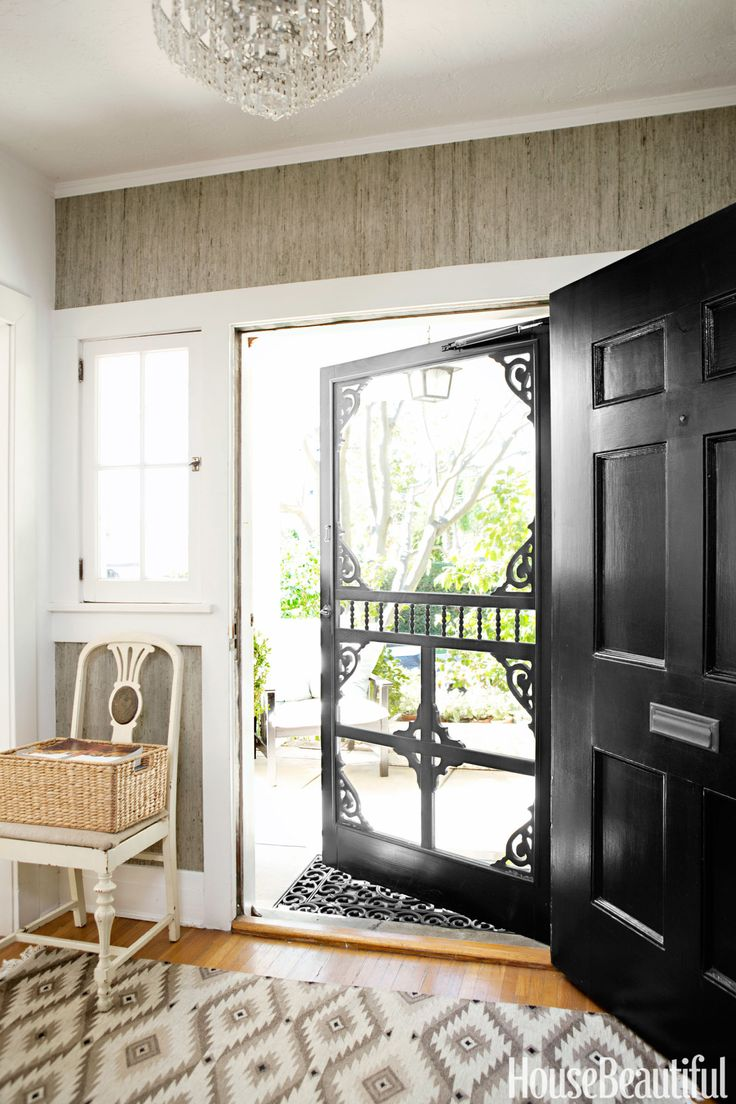This door (commissioned by designer Tobi Tobin for her Hollywood Hills farmhouse) is a stylish accessory that you can admire from inside and out. Pin it » - HouseBeautiful.com