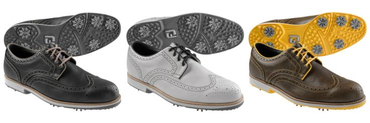 FootJoy Mens City Wingtip Golf Shoes #FootJoy #Wingtip #City #Golf #TGW.com