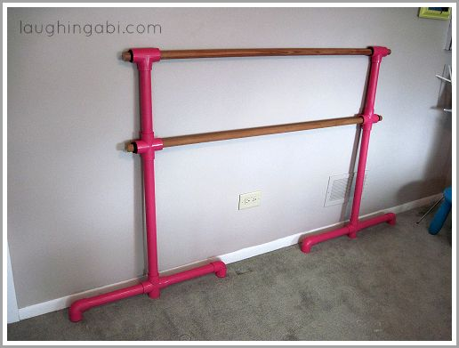 DIY Portable Ballet Barre | laughingabi.com