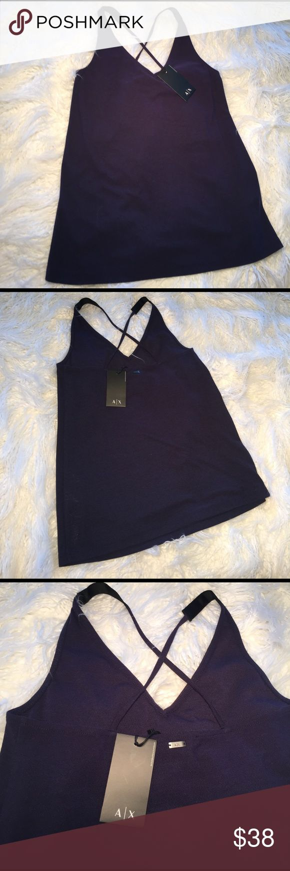 A/X ARMANI EXCHANGE Cross Strap Tank A/X ARMANI EXCHANGE Cross Strap Tank Top Women's A/X Armani Exchange Tops Tank Tops