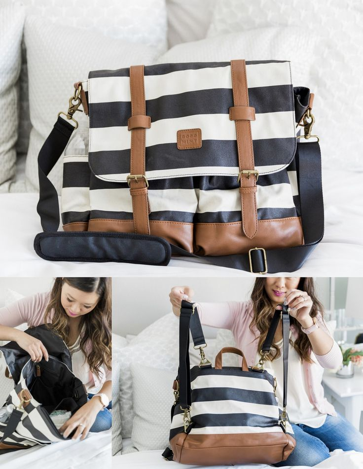 A review of 10 stylish diaper bags and what I like about them.