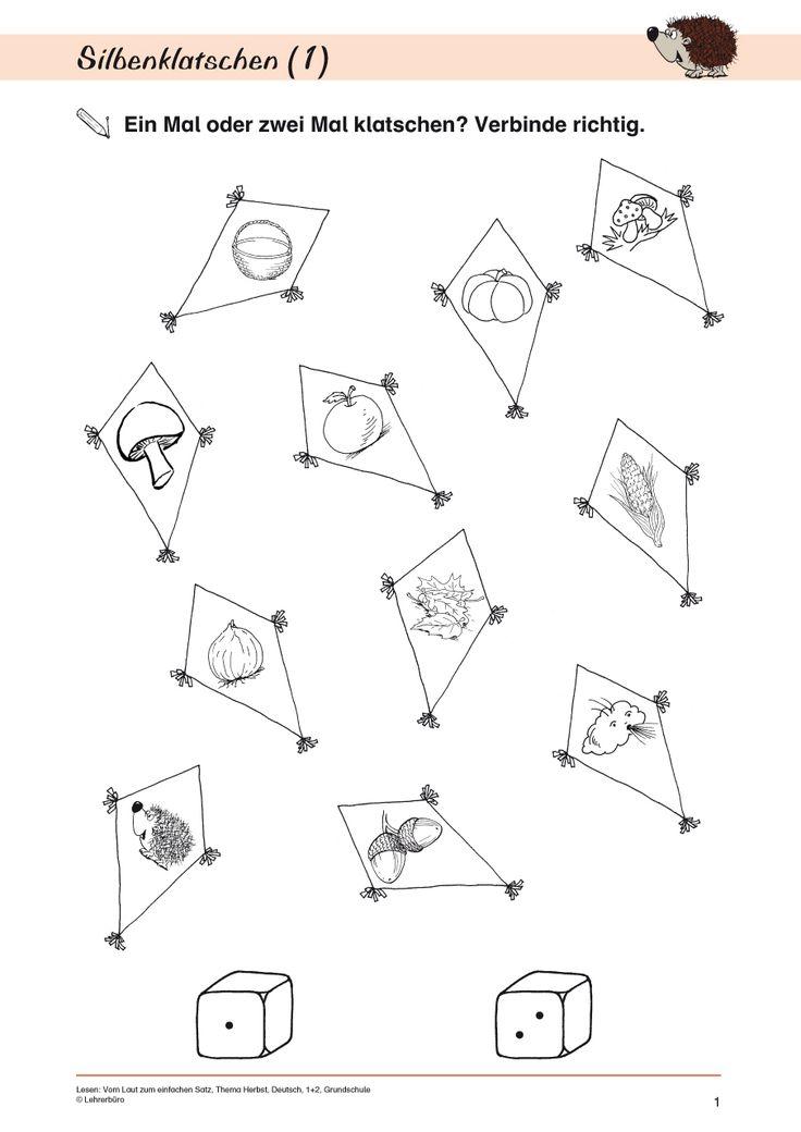 Arbeitsblätter Buchstaben Kindergarten : Best buchstaben anlaute silben images on pinterest