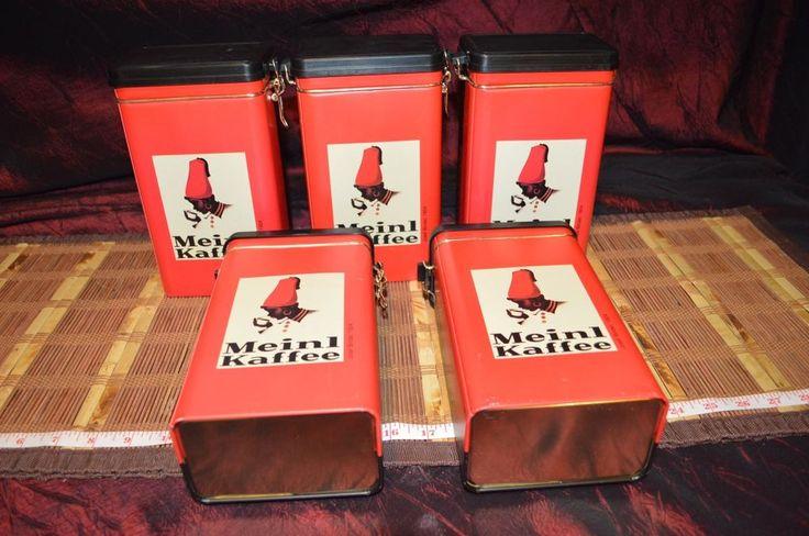 5 Julius Meinl Kaffee Coffee Tin Can Box Josef Binder Wiener Werkstatte Caddy #JuliusMeinl