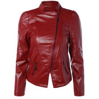 SHARE & Get it FREE | Zip PU Leather Biker JacketFor Fashion Lovers only:80,000+ Items·FREE SHIPPING Join Dresslily: Get YOUR $50 NOW!