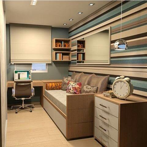 Escritório com quarto integrado