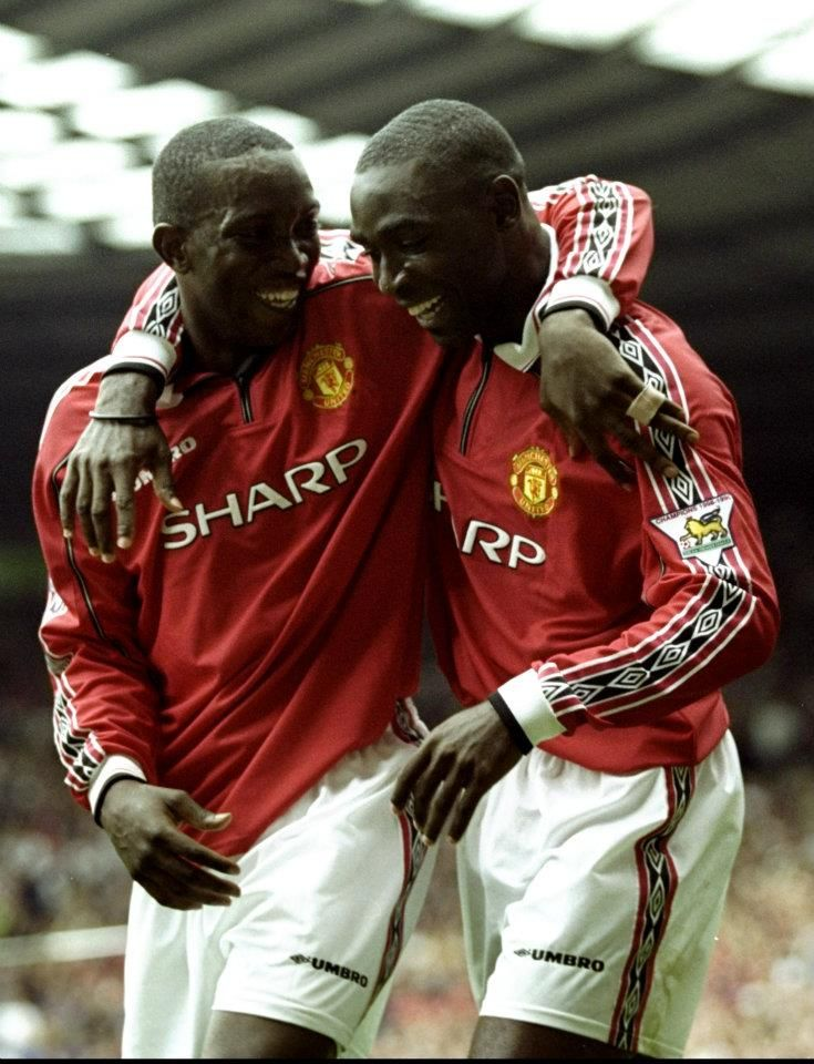 The legendary duo Andy Cole and Dwight Yorke. #MUFC Brings back some great memories of my uni exchange in the UK