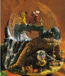 Disney Snowglobes Collectors Guide: Hakuna Matata Snowglobe (sitting on my mantle)