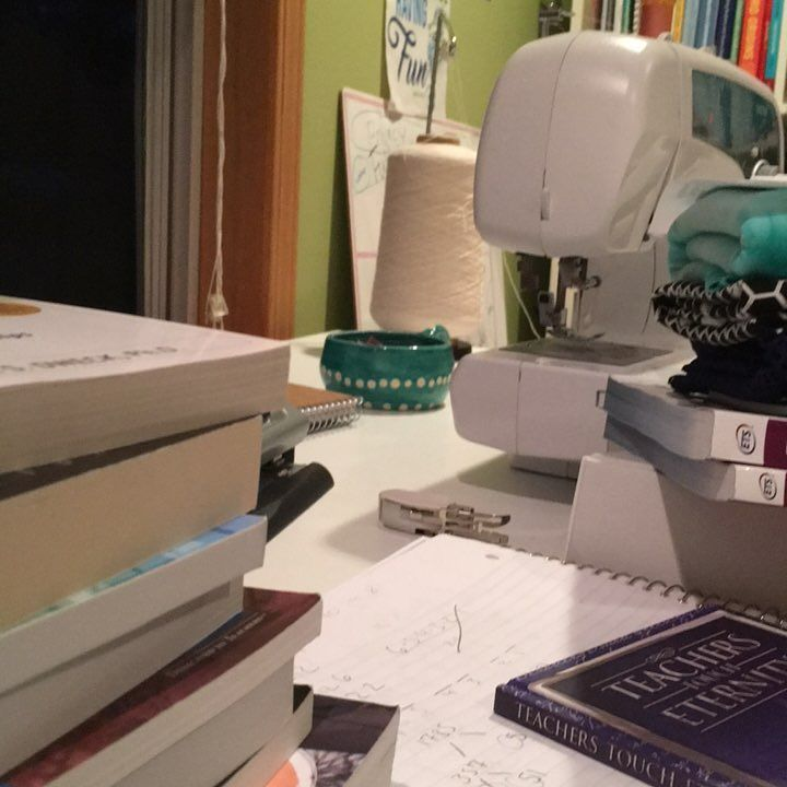 I see you back there little sewing machine...as soon as the GRE is done and teaching gets rolling again I'll hang out with you again....I miss you dear friend     #solopreneur #smallbusiness #etsy #etsyseller #teachersofinstagram #teacherlife #sewing #sewinglove #postgraduatejourney
