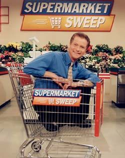 """""""Next time you're at the checkout counter and you hear that beep, think of the fun you could have on..."""" Supermarket Sweep - OMG, I used to watch it ALL the time!"""