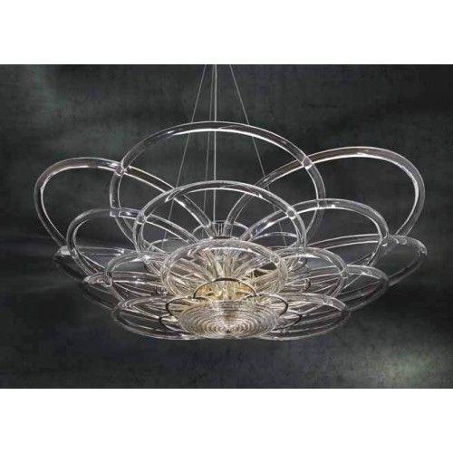 Flair lampadario in vetro lavorato a mano di Bellart