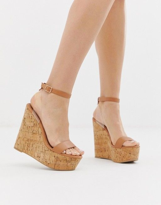 2a19cb3532cd88 ASOS DESIGN Teaser high wedges with clear strap