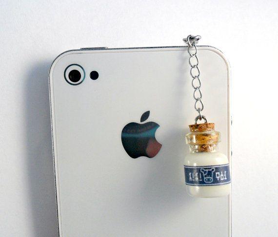 Legend Of Zelda Lon Lon Milk Phone Charm Dust by aLilBitOfCute