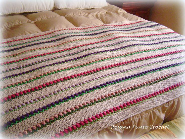 47 mejores im genes sobre mis tejidos mantas cubrecamas - Mantas pie de cama ...